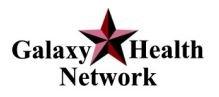 Galaxy Health Network logo, medical center hialeah