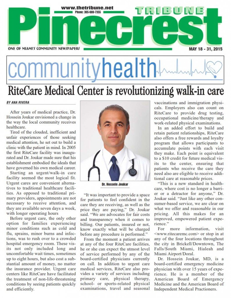 RiteCare Medical Center is revolutionalizing walkin Care