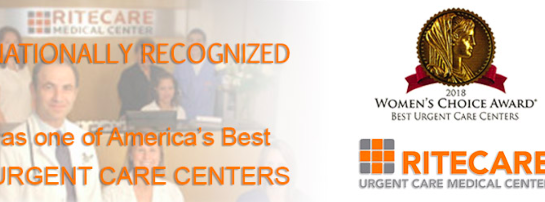 RiteCare Urgent Care Medical Center receives a 2018 WOMEN'S CHOICE AWARD® as one of America's Best Urgent Care Centers